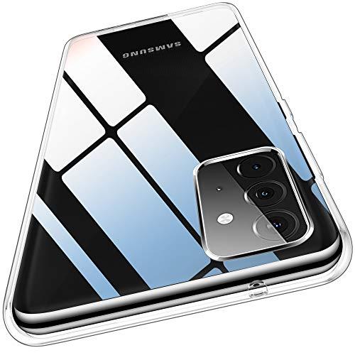 QITAYO Carcasa transparente compatible con Samsung Galaxy A72/A72 5G, 1,2 mm de grosor, carcasa trasera de silicona flexible, delgada y suave TPU de silicona a prueba de golpes para Samsung Galaxy A72