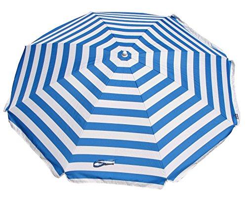Shelta Australia - Ombrellone da spiaggia, 180 cm, a righe bianche e blu