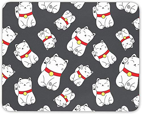 Lucky Cat Mouse Mat Pad - Chinese Japanese Asian Charm Gift PC Computer #8410