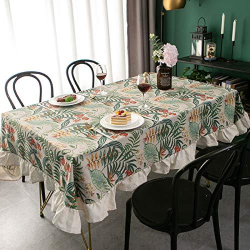 PhantasyIsland.com Mantel Antimanchas Diseño de Carta Rectangular Mantel, Transpirable, Aislamiento Térmico, Restaurante,Cocina, 130 * 180CM