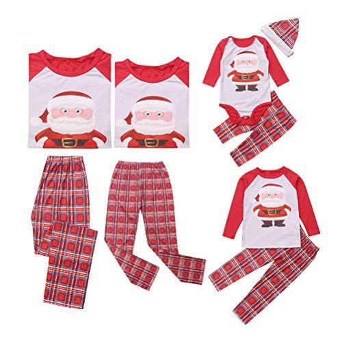 douleway Coincidencia de Navidad de la familia pijama, ropa para dormir Mamá y yo Pj bebé Romper Conjunto para Bebé niña Men 12 - 18 Months