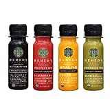 Remedy Organics Immunity Plus Shot, Variety 24-Pack   Boost Energy, Brain Function, Detoxification, and Metabolism   Certified-Organic Ingredients