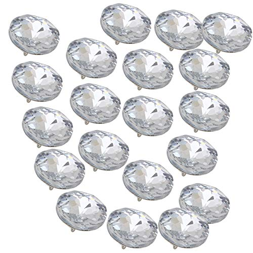 RDEXP Sofa Headboard Upholstery Crystal Buttons Soft Package Furniture Decorative Accessories Pack of 20 (Diameter:25mm)