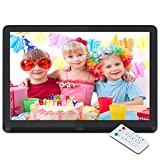 Digital Picture Frame 10 Inch Digital Photo Frame HD 1920X1080P with Remote Control 16:9 IPS Display Electronic Auto Slideshow Zoom Image Stereo Video Music Player Support USB SD Card 180° View Angle