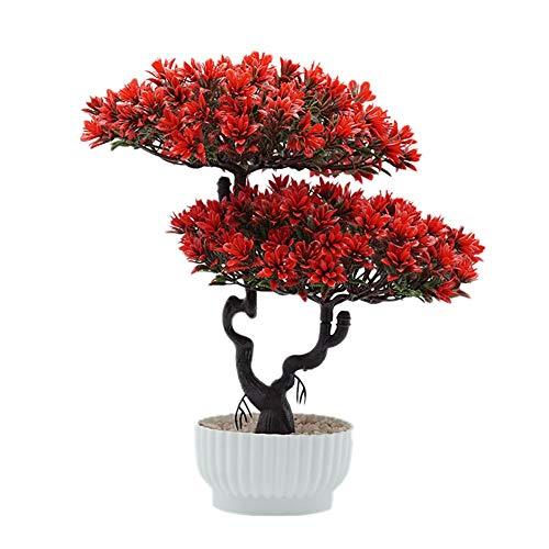 Demarkt Bonsai plant kunstplant kunstmatige bonsai boom grenen kunststof voor kantoor vensterbank hof 31 * 27cm A-3