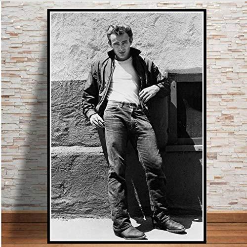 Actor de cine estrella cuadro de arte de pared James Dean foto clásica lienzo pintura póster impresiones sala de estar sofá decoración del hogar sin marco 50 * 70Cm