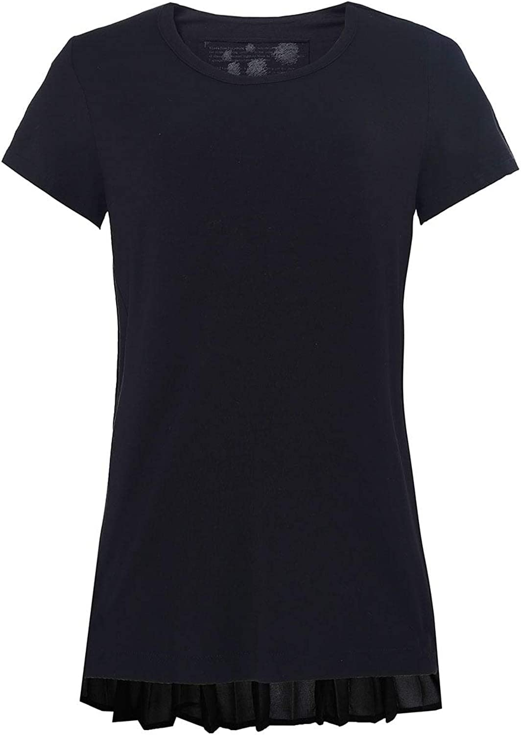 Rundholz Women's Jersey Pleated TShirt Black