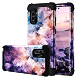 Fingic Samsung Note 10 Plus Case,Samsung Galaxy Note 10 Plus Case Nebula Hard PC Soft Silicone 3 in 1 Heavy Duty Hybrid Protection Shockproof Anti-Scratch Rugged Bumper Galaxy Note 10 Plus Cases