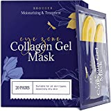 Under Eye Patches - 24Karat Gold Under Eye Mask Anti-Aging Hyaluronic Acid Collagen Under Eye Pads Reducing Dark Circles & Wrinkles Treatment Gel Bags, 20 Pairs