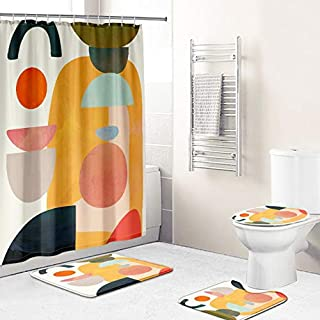 Sponsored Ad - Modern Abstract Painting Artwork Vintage Shower Curtain Fabric Waterproof Durable Bathroom Shower Curtain