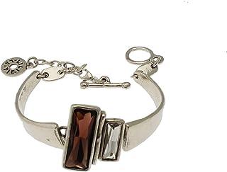 LILI la PIE - Bracelet en métal argenté et Strass Collection Minotaure