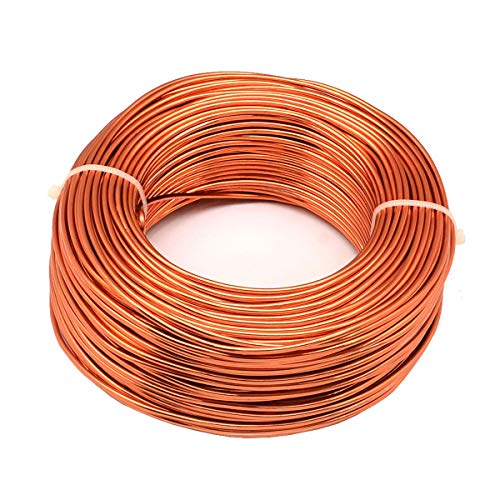 Keloka Aluminium Wire Rolls 3.0mm Diameter 10m Length Bendy Craft Silver Wire for Jewelry Making,DIY Sculpture,Modelling Making and Crafts (Gold)