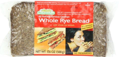 Mestemacher Bread, Whole Rye Bread, 1.1 Pound (Pack of 12)