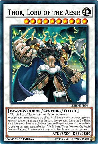 Yu-Gi-Oh! - Thor, Lord of The Aesir - LEHD-ENB30 - Common - 1st Edition - Legendary Hero Decks - Aesir Deck