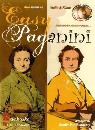 Easy Paganini, für Violine, m. 2 Audio-CDs