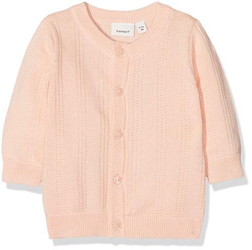 NAME IT NAME IT Baby-Mädchen NBFGALA LS Knit Card Sweatjacke, Rosa (Peachy Keen), 68