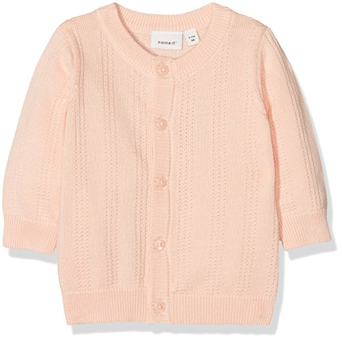 NAME IT NAME IT Baby-Mädchen NBFGALA LS Knit Card Sweatjacke, Rosa (Peachy Keen), 68