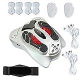 FTNJG Estimulador Circulatorio Eléctrico, Masajeador de Pies con 25 Modos y 99 Intensidades Control Remoto Cronometrado para Mejorar la Circulación y Aliviar el Dolor