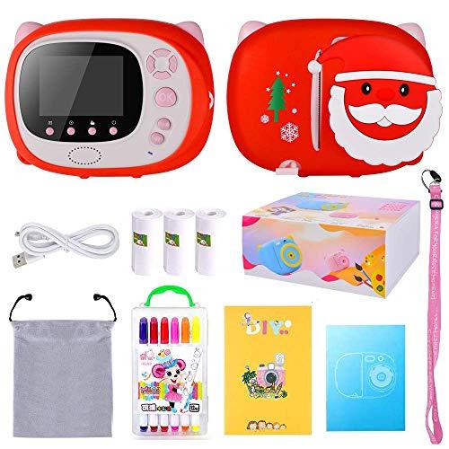 Zooma Juguete de cámara Digital para niños, Impresora instantánea para cámara Infantil, Juguete con WiFi (Rosa)