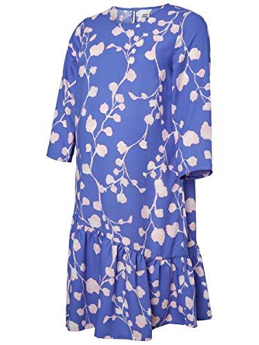 MAMALICIOUS Mama Licious Damen Umstandskleid Blumenprint LAmparo Blue