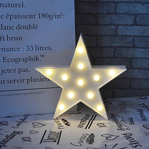 Estrella LED Iluminación infantil nocturna Luces nocturnas Luces de estado de ánimo Lámparas Enfermería Cuarto del bebé Decoración Luces de escritorio (White)