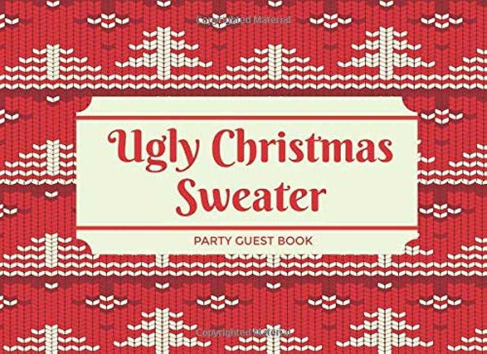 エンターテインメントテレビ局スリップシューズUgly Christmas Sweater Party Guest Book: Fill-In, Multiple Choice and Room for Guests to Draw and Write (Fun Activity for Holiday Parties)
