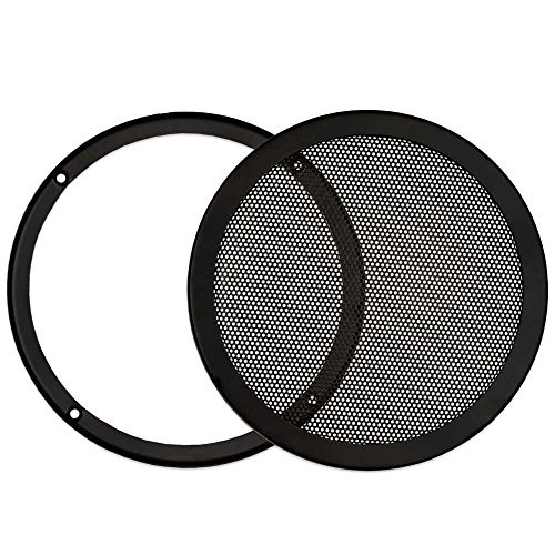 Goldwood Snap On 8' Subwoofer Grille Steel Mesh Speaker Black (SGM8)