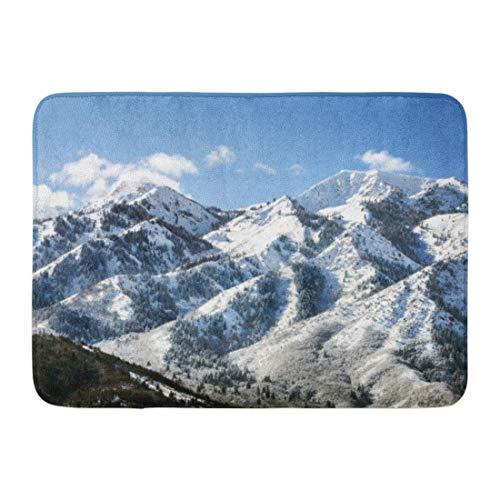 Zome Lag Deurmat Entree Mat Badkamer Tapijt Badmat Utah Wasatch Mountains in Ogden Net ten noorden van Salt Lake City Welke is populair voor Skiën Snowboarden Badkamer Decor Tapijt Badmat 60x40cm