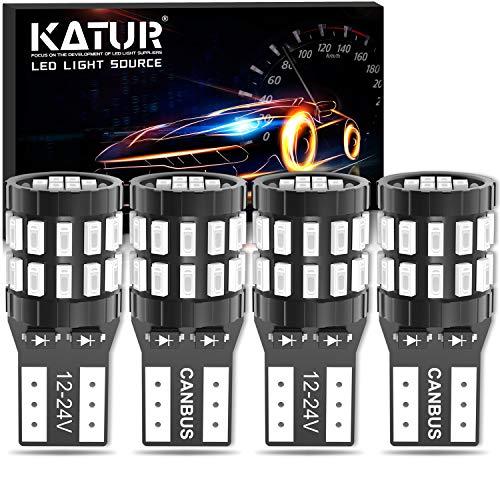 KATUR T10 W5W LED Bombilla 194 168 Superbrillante Azul 30 * 3014 Chip 12-24V CANBUS Sin Errores Luz de matrícula de cortesía de la Puerta del Mapa del Domo del automóvil (Versión Mejorada)