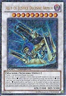 Yu-Gi-Oh! - Ally of Justice Decisive Armor (DT03-EN090) - Duel Terminal 3-1st Edition - Ultra Rare