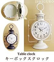 イシグロ 置き時計・掛け時計 ホワイト サイズ/W21×H37×D13cm