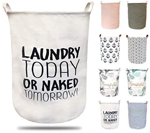 ephem - Wäschekorb faltbar, flexibel & passend. Wäschesack, Wäschesammler, Laundry Basket, Aufbewahrungsbox mit hochwertiger PE-Beschichtung. (Laundry, 50x40cm)