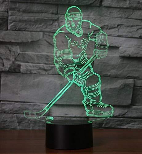 3D Illusionslampe Led Nachtlicht Eishockey Touch 7 Farben Tischlampe Boutique Bar Schlafzimmer Geschenk Dekor Kindergeburtstag Weihnachtsgeschenke
