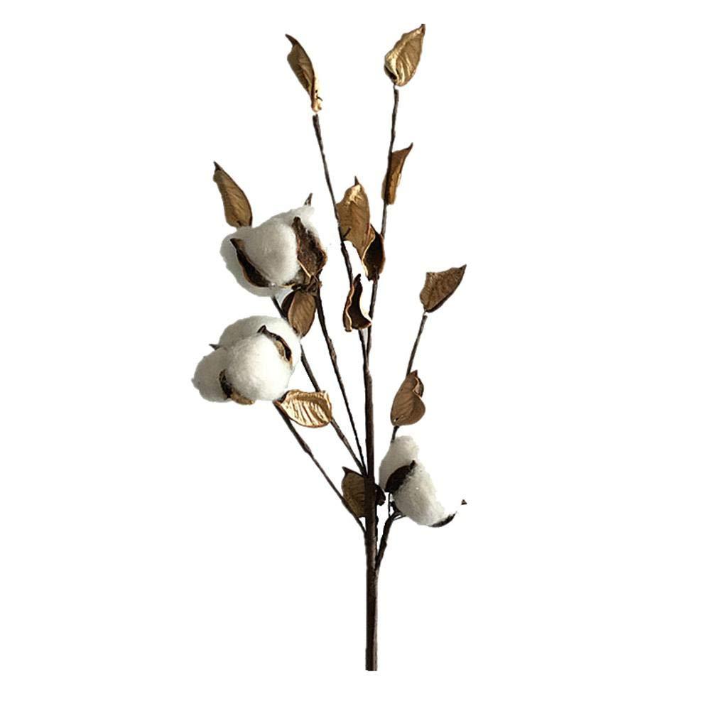 Tachuelas de algodón, tallos de algodón natural artificial, ramas de flores secas para la boda, hogar, oficina, fiesta, jardín, por Futureanterior, A, 3: Amazon.es: Bricolaje y herramientas