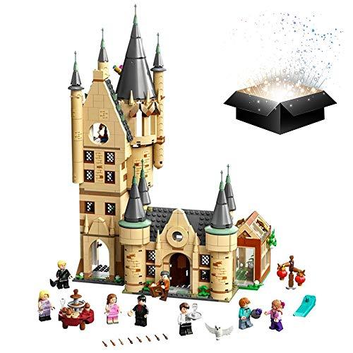 ZZAZXB Torre de Astronomía de Castillo de Mágico Harry, Mundo Mágico con 8 Minifiguras, Castillo de Juegos de Construcción para Niños de 9+ Años, 971 Pcs
