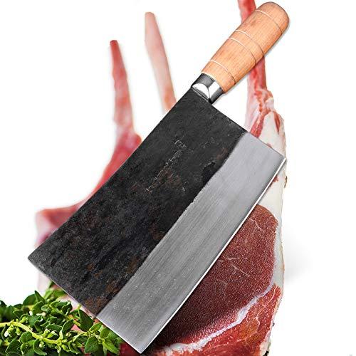 Full Tang Chef Cuchillo estilo chino carnicero matadero cuchillo cocina cuchillo mango de madera herramientas de cocina juego de cuchillos de cuchillo