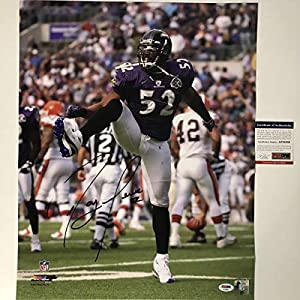 Autographed/Signed Ray Lewis Baltimore Ravens 16x20 Football Photo PSA/DNA COA #2