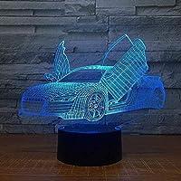 3DイリュージョンLEDナイトライトマルチセレクティブクールスポーツカーオート3Dノベルティ7色変更LEDテーブルランプ3Dスライドライトボーイギフト