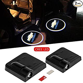 2 Pcs Wireless Car Projection Cree LED Projector, Car Door Welcome lights, Led Car lights, Logo Lights, Shadow led Lights ...