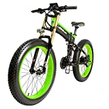 LANKELEISI 26' Fat Tire Folding Electric Bicycle Shimano 27 Speed 48V...