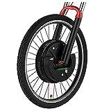 E-bike Motor Wheel 36V 350W IMotor 3.0 Bicicleta Eléctrica Rueda Delantera 24' 26' 27.5' 29' 700C Kit De Conversión De Bicicleta Eléctrica Bicicleta Eletrica ( Color : V wire control , Size : 26 in )