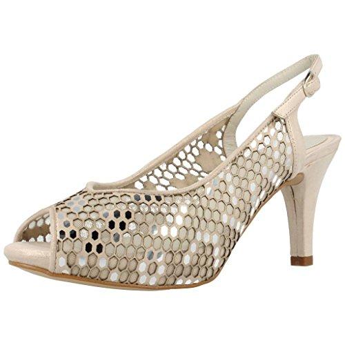 Argenta Zapatos Tacon 25055 40436 Mujer Beige 38.5