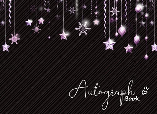 Compare Textbook Prices for Autograph Book: Signatures Blank Scrapbook, Autograph Book for Adults & Kids, 120 Blank Pages ,8.25 x 6 inches.- star cover  ISBN 9798486514685 by Design, Chor muang