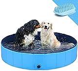 Piscina para perros Perro plegable PET PET Niños Baño Piscina Piscina Pool Pool Portátil CLORURO DE POLIVINILO Bañera de baño de gato de perro grande antideslizante para perros pequeños Piscina para p