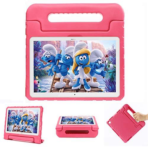 XunyLyee Funda infantil Compatible co Huawei Mediapad M5 lite 10.1', peso ligero y a prueba de golpes con mango de EVA funda protectora para Huawei Mediapad M5 lite 10.1 Pulgadas, Rosa