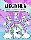Licornes : livre de coloriage pour enfants : de 4 à 9 ans: Un cahier d'activités mignon pour les enfants, filles et garçons