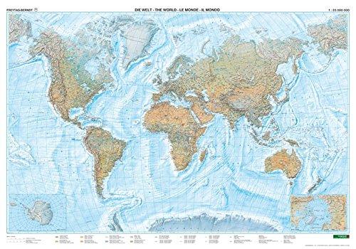 Welt physisch Meeresrelief, 1:35 Mill., Poster
