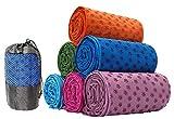 Kamay's Non-Slip Yoga Towel Mat With Bag Quick Dry Microfiber Extra Long 63 x 180cm/24.8 x 72inch Dot Grip...