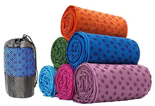 Kamay's Non-Slip Yoga Towel Mat With Bag Quick Dry Microfiber Extra Long 63 x 180cm/24.8 x...