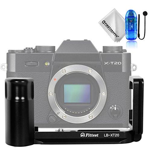Soporte de Forma L con liberación rápida y empuñadura Personalizada para Fujifilm X-T30 XT30 X-T20 XT20 X-T10 XT10 + paño de Limpieza + Lector de Tarjetas SD + Cuerda Anti-perdida - LLX-XT20-01TZ2